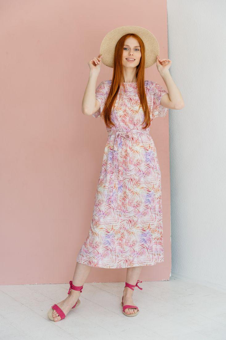 m2159 Платье с веточками