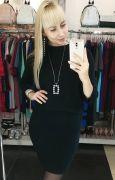 Костюм: облегающее платье и свободная кофта цвет черный