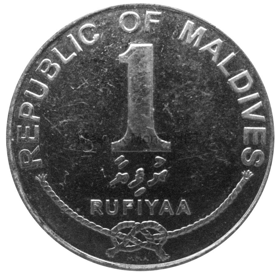 Мальдивы 1 руфия 2007 г.