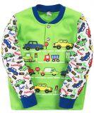 Кофта для мальчика Bonito зеленая с машинками