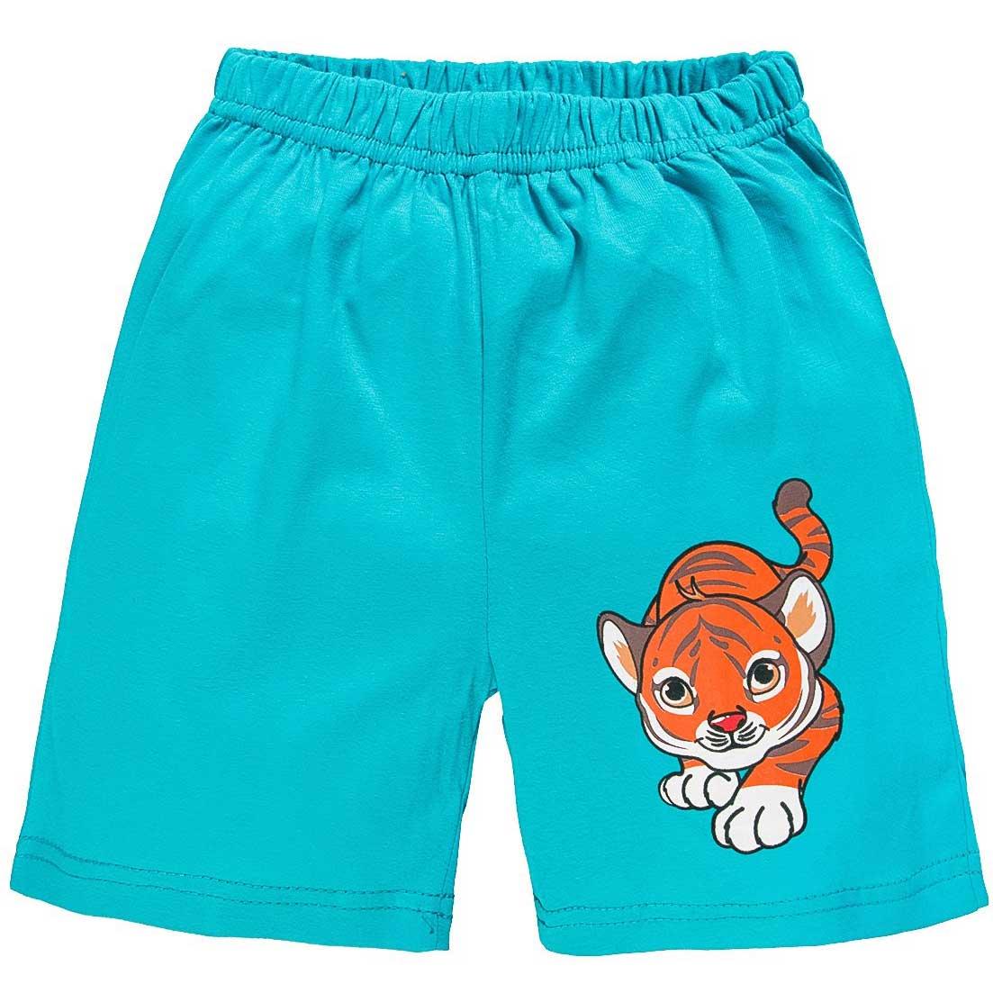 Шорты для мальчика с принтом тигренка