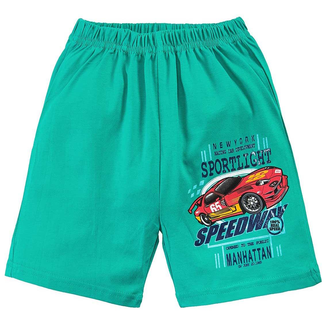 Шорты для мальчика с принтом Car Speedway