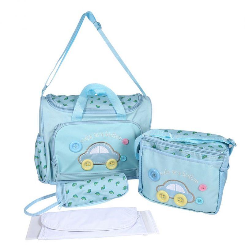 Комплект сумок для мамы Cute as a Button, 3 шт, цвет голубой