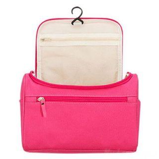 Косметичка-органайзер для хранения гигиенических предметов, Цвет: Тёмно-розовый