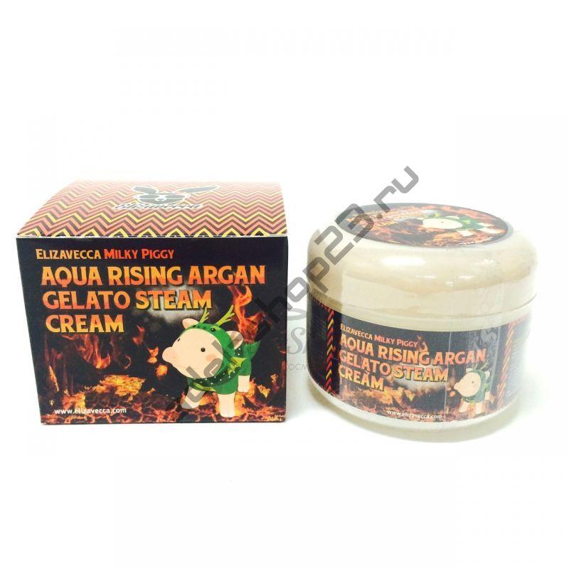 Elizavecca - Milky Piggy Aqua Rising Argan Gelato Steam Cream