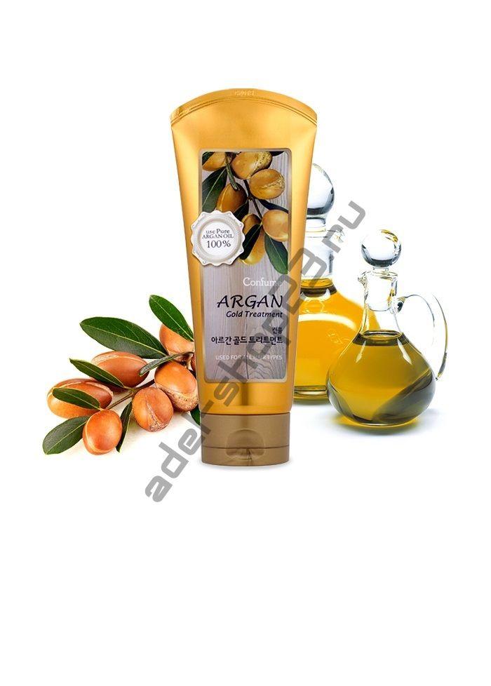 CONFUME - Увлажняющая маска с аргановым маслом и с золотом для поврежденных волос Argan Gold Treatment
