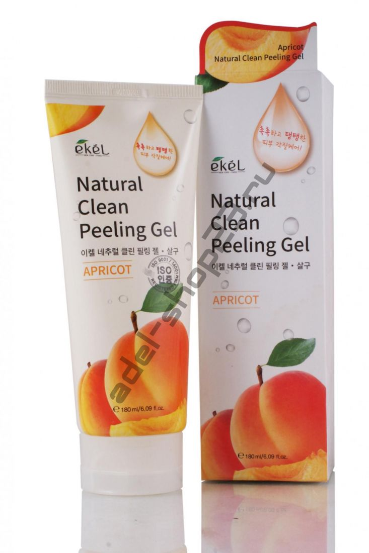 EKEL - Natural Clean Peeling Gel Apricot – пилинг-скатка с экстрактом абрикоса