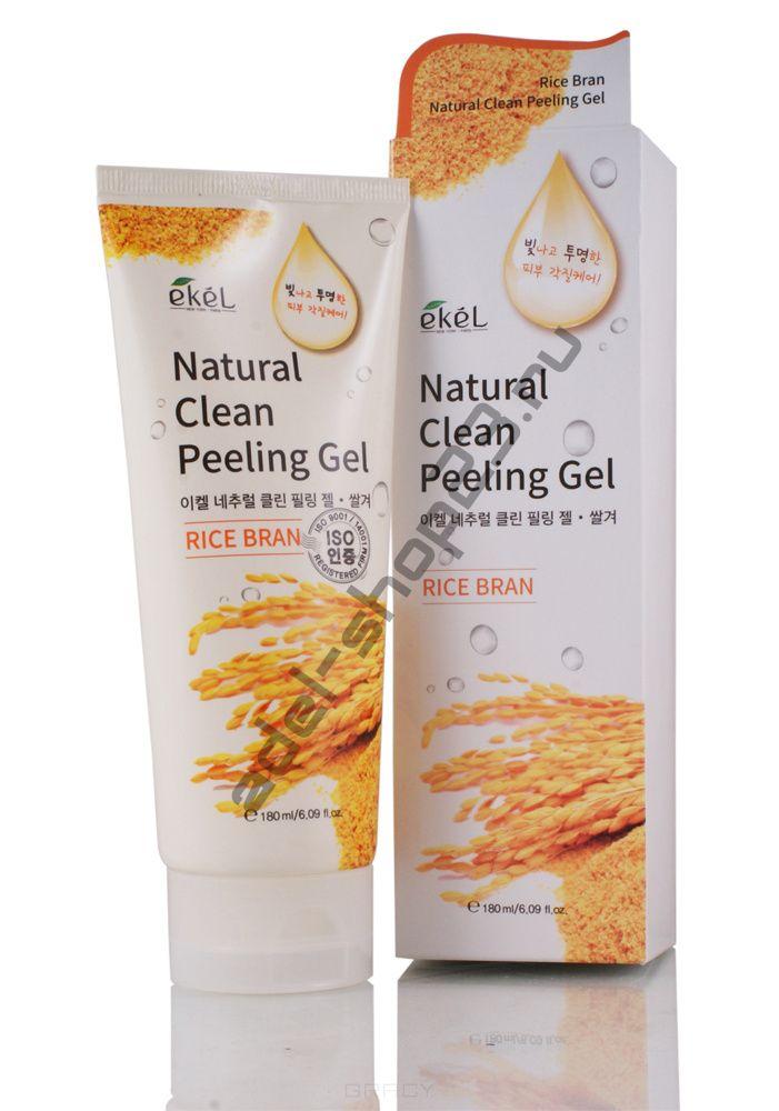 Ekel - Пилинг-скатка с экстрактом коричневого риса Rice Bran Natural Clean Peeling Gel