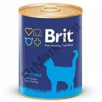 Brit Premium Консервы для кошек 340гр индейка