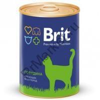 Brit Premium Консервы для кошек 340гр говядина