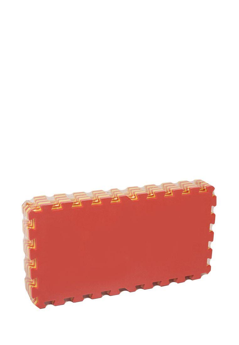 Мягкий пол  25*25 (см) желто-красный