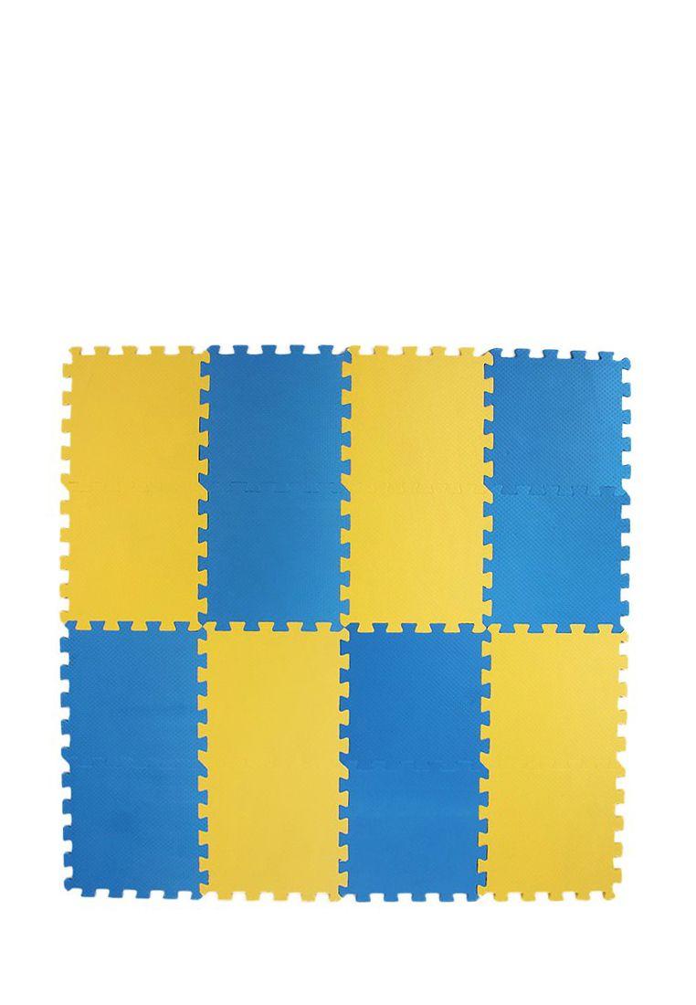 Мягкий пол 25*25 (см) желто-синий