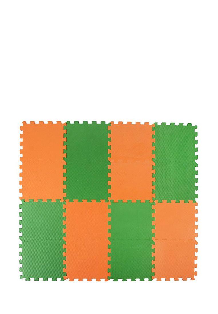 Мягкий пол  25*25 (см) оранжево-зеленый