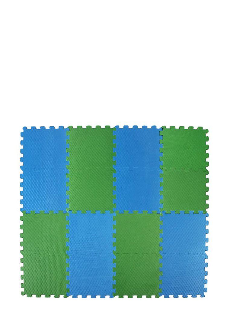 Мягкий пол 25*25 (см) сине-зеленый