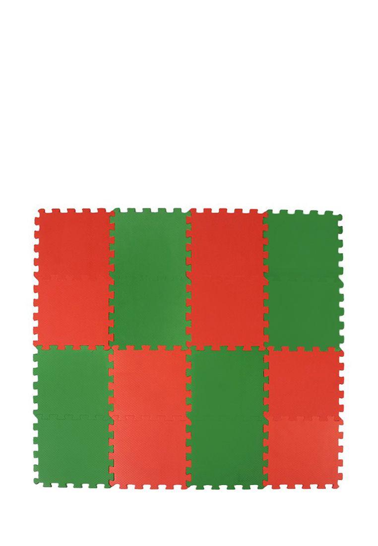 Мягкий пол  25*25(см) красно-зеленый