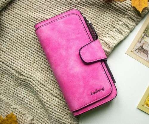 Женский замшевый кошелёк Baellerry Forever (Цвет: Розовый)