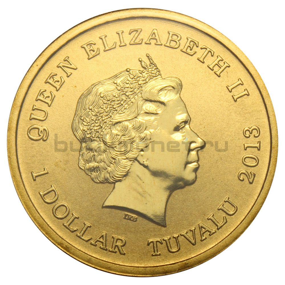 1 доллар 2013 Тувалу Австралийский огарь (Австралийские Водяные Птицы)