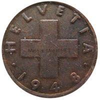 Швейцария 2 рапп 1948 г.