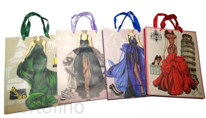 Красочный пакет для женщин (26*32 см)