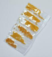 Бульонки разных размеров металлические (золото, 6 размеров)