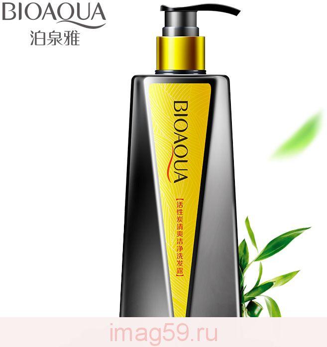 BE4810519 Органический Детокс-шампунь BIOAQUA для волос c бамбуковым углем