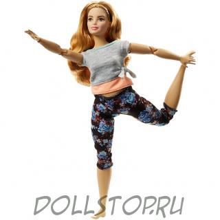 кукла Барби Безграничные движения Полная с каштановыми волосами - Barbie Made to Move Doll – Curvy with Auburn Hair