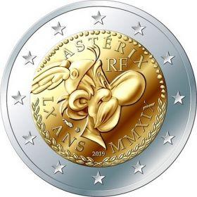 60 лет герою комиксов Астерикс 2 евро Франция 2019 BU блистер
