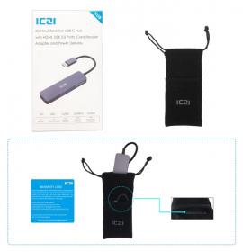 Хаб ICZI 6 в 1 (USB-C)