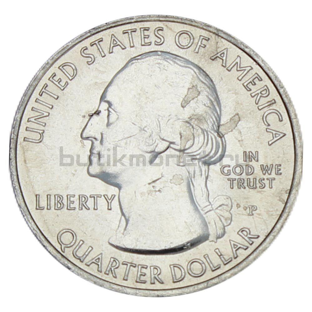 25 центов 2010 США Национальный парк Йосемити P