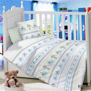 CДA-10-023/KT-88 Слоники  КПБ Детский в кроватку Сатин  АльВиТек