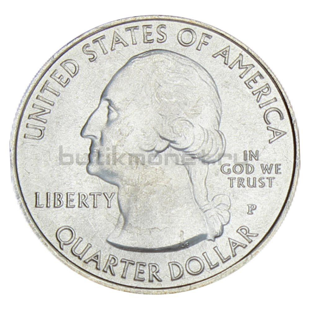 25 центов 2012 США Национальный парк Денали P