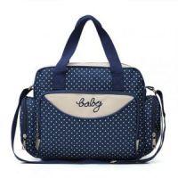 Компактная сумка для мамы Baby, 36х9х26 см, цвет синий