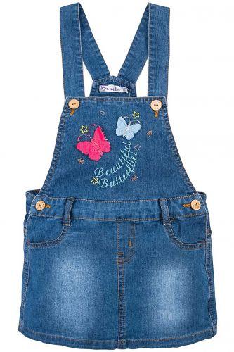Сарафан джинсовый для девочки 3-7 лет Bonito с бабочками