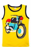 Майка для мальчиков Bonito желтая с мотоциклом