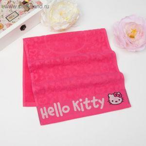 Полотенце детское Hello Kitty 35х70 см, цвет розовый 100% хлопок, 400 г/м?
