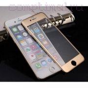 Стекло защитное экрана Iphone 6/6s (4.7'') Blu-Ray золото