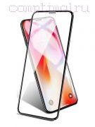 Стекло защитное экрана Iphone XR (6.1'') черное