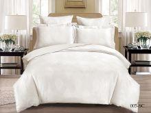 Комплект постельного белья Лен Soft cotton жаккард   евро  Арт.31/005-SC