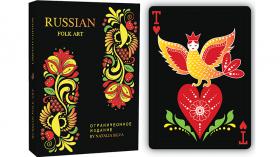 Дизайнерские карты Russian Folk Art Limited Edition (Black) Printed by USPCC