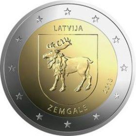 Герб Земгале   2 евро Латвия  2018