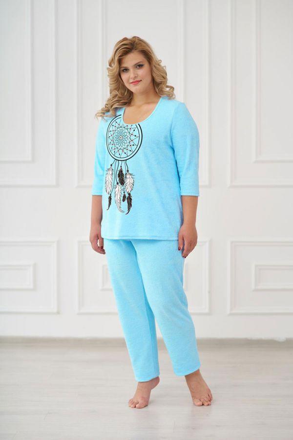 Пижама женская арт.0661 бирюзовая, махра