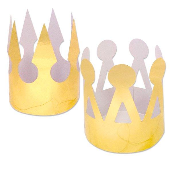 Корона Золотая фольгированная