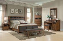 Спальня ANTONIO - 4 элемента (кровать 180*200, тумба 2 ящика, стол туалетный с зеркалом)