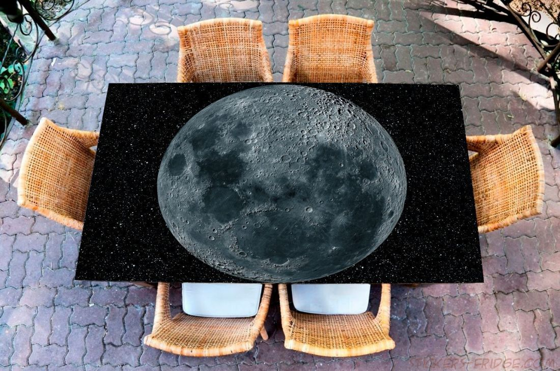 Наклейка на стол - Moon