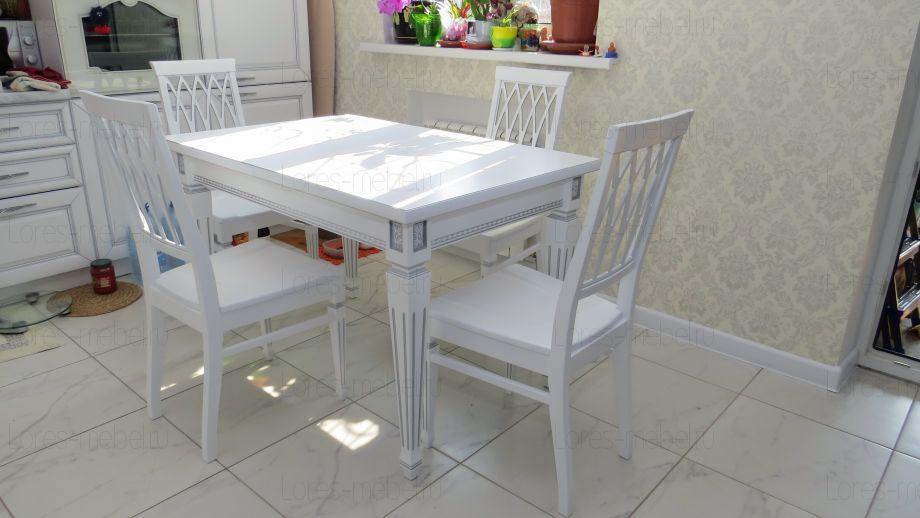 Стол Луиза-2 (Эмаль) с фрезеровкой