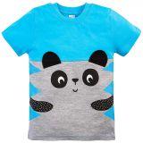Футболка для мальчика Bonito голубой с мордочкой панды