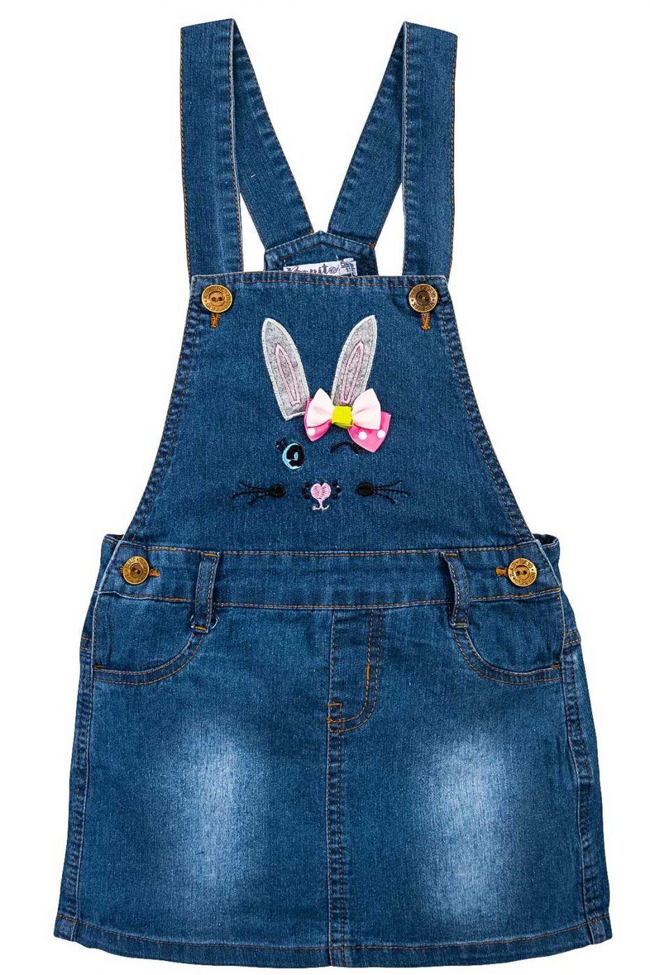 Сарафан джинсовый для девочки Bonito Jeans с зайчиком