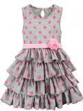 Платье на девочки Bonito серое в горошек
