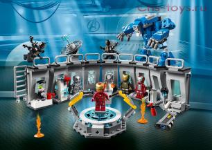 Конструктор PRCK Avengegs Лаборатория Железного человека 64016 (Аналог LEGO Super Heroes 76125) 551 дет