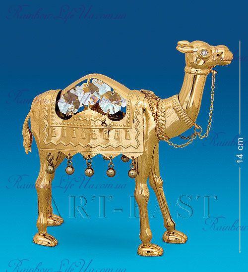 """Фигурка верблюд с кристаллами """"Swarovski"""""""